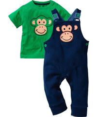bpc bonprix collection Baby T-Shirt + Sweatlatzhose (2-tlg.) Bio-Baumwolle kurzer Arm in grün für Herren von bonprix