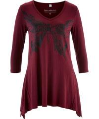 bpc selection Langarmshirt mit Zipfelsaum in rot für Damen von bonprix
