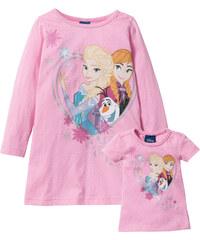 Disney Nachthemd + Puppennachthemd (2-tlg. Set) FROZEN in rosa für Mädchen von bonprix