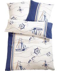 bpc living Bettwäsche Schiff, Linon in blau von bonprix