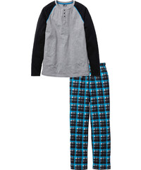 bpc bonprix collection Pyjama langarm in grau für Herren von bonprix