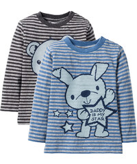 bpc bonprix collection Baby Langarmshirt (2er-Pack) Bio-Baumwolle in grau von bonprix