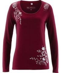 bpc selection Langarm-Shirt in rot für Damen von bonprix