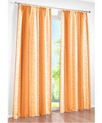 bpc living Vorhang Estelle, (1er-Pack), Kräuselband in orange von bonprix