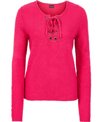 BODYFLIRT Pullover in pink (V-Ausschnitt) für Damen von bonprix