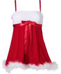 Weihnachts-Babydoll in rot für Damen von bonprix