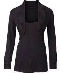 BODYFLIRT Bolero-Pullover langarm in schwarz für Damen von bonprix