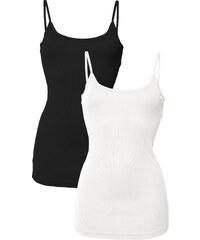 RAINBOW 2er-Pack Tops ohne Ärmel in weiß für Damen von bonprix