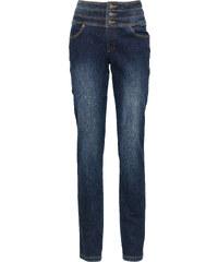 John Baner JEANSWEAR Stretch-Jeans Bauch-Weg-Röhre, Kurz in blau für Damen von bonprix