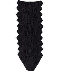 bpc bonprix collection Slip (10er-Pack) in schwarz für Damen von bonprix