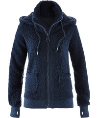 bpc bonprix collection Basic Fleece-Jacke langarm in blau für Damen von bonprix