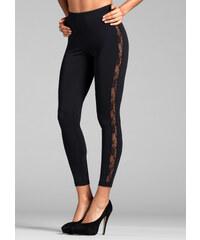 RAINBOW Leggings mit Spitze in schwarz für Damen von bonprix