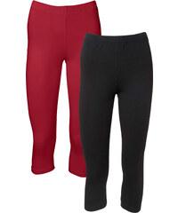 BODYFLIRT Capri-Leggings (2er-Pack) in rot für Damen von bonprix