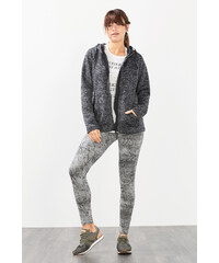Esprit Sweater à capuche sport maille et polaire