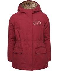 Vínový holčičí kabát s nápisem Roxy