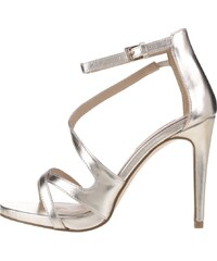 Metalické sandálky ve zlaté barvě na jehlovém podpatku Miss Selfridge