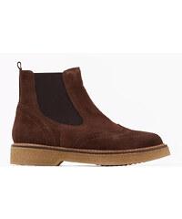 Esprit Kotníčkové boty, velur + dírkový vzor