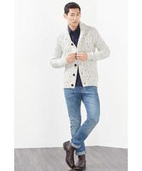 Esprit Kabátek, hrubý úplet, šál. límec, směs vlny