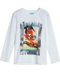GATO NEGRO Jungen Shirt Longsleeve Rundhalsausschnitt weiß aus Baumwolle