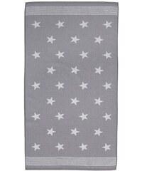 SEAHORSE Handtücher Seahorse Stardust mit Sternen & Streifen grau 2xHandtücher 60x110 cm