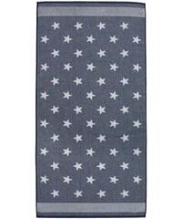 Badetuch Seahorse Stardust mit Sternen & Streifen SEAHORSE blau 1xBadetuch 70x140 cm