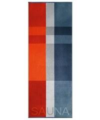Egeria Saunatuch Liam mit Sauna Schriftzug blau 1xSaunatuch 75x200 cm
