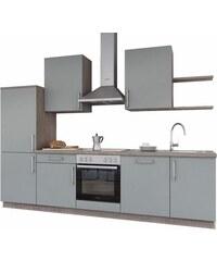 set one by Musterring Küchenzeile Turin mit E-Geräten Breite 290 cm SET ONE BY MUSTERRING grau