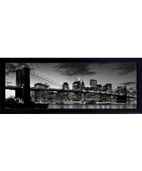 Schattenfugenbild Brooklyn Bridge/New York 90/60 cm PREMIUM PICTURE schwarz