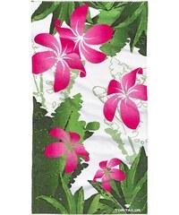 Strandtuch Dschungle mit großen Blüten Tom Tailor grün 1xStrandtuch 85x160 cm