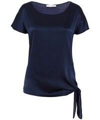 Damen HALLHUBER Knotenshirt mit Seidenfront HALLHUBER blau 34,36,38,40,42,44
