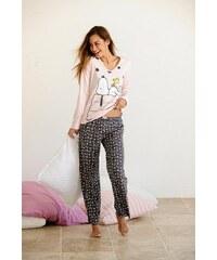 PEANUTS Peanuts Langer Pyjama im niedlichen -Design rosa 32/34,36/38,40/42,44/46,48/50,52/54,56/58