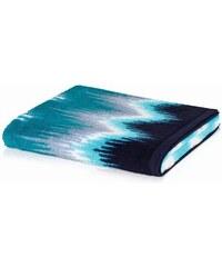 Handtuch Ikat mit Zick-Zack-Muster MÖVE blau 1xHandtuch 50x100 cm