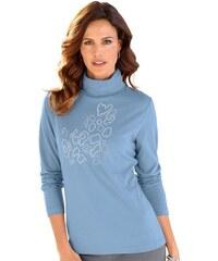 ALESSA W. Damen Alessa W. Shirt mit Metallplättchen blau 38,40,42,44,46,48,50,52,54