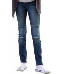 RED LABEL Junior Jeans mit ausgefransten Ziernähten am Knie für Mädchen S.OLIVER RED LABEL JUNIOR blau 128,134,140,146,152,158,164,170,176