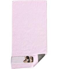 Dyckhoff Frottiertuch rosa 50x100 cm, Handtuch,70x140 cm, Duschtuch