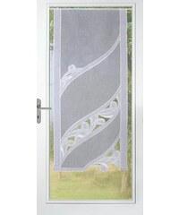 Gardine Stickereien Plauen Christina mit echter Plauener Spitze Stickerei (1 Stück) STICKEREIEN PLAUEN weiß 1 (H/B: 140/60 cm)