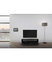 just-racks TV-Lowboard JRL1101S mit stoffbespannter Klappe Breite 110 cm JUST-RACKS schwarz