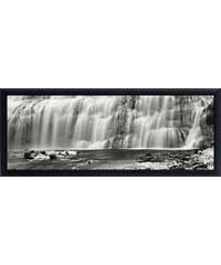 PREMIUM PICTURE Schattenfugenbild Wasserfälle 95/33 cm weiß