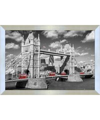 PREMIUM PICTURE Wandbild London Bridge England 90/60 cm grau