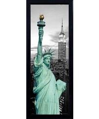 Schattenfugenbild Freiheitsstatue/New York 30/90 cm PREMIUM PICTURE schwarz