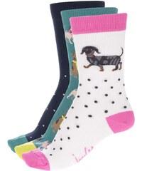 Sada 3 párů barevných ponožek se potiskem psů Tom Joule