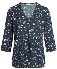 Blouse imprimé fleurs multicolores Bleu Elasthanne - Femme Taille 1 - Cache Cache