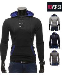 Re-Verse Sweatshirt à capuche avec col boutonné
