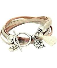 Secrets Des Anges Lauren - Bracelet en cuir mélangé