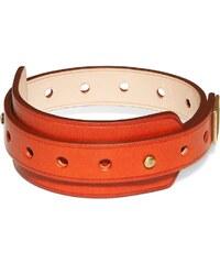 Ursul Bracelet en cuir - rouge