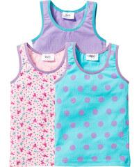 bpc bonprix collection Unterhemd (3er-Pack), Gr. 92/98-152/158 in blau für Mädchen von bonprix