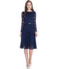 Goddess Krajkové šaty AMALIE NAVY Barva: Tmavě modrá,