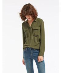 chemise à poches kaki Jennyfer