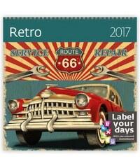 Helma 365, s.r.o. Nástěnný kalendář Retro 2017 LP16-17