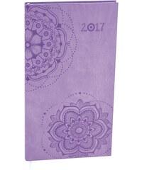 Baloušek, s.r.o. Týdenní diář - Igor - vivella s ražbou - kapesní - sv.fialová Ornament 2017 BTI61-40-17